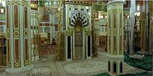 Rawdah, tempat antara Makam Nabi Muhammad dengan mimbar beliau.
